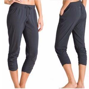 Athleta Prima Black Cropped Athletic Pants